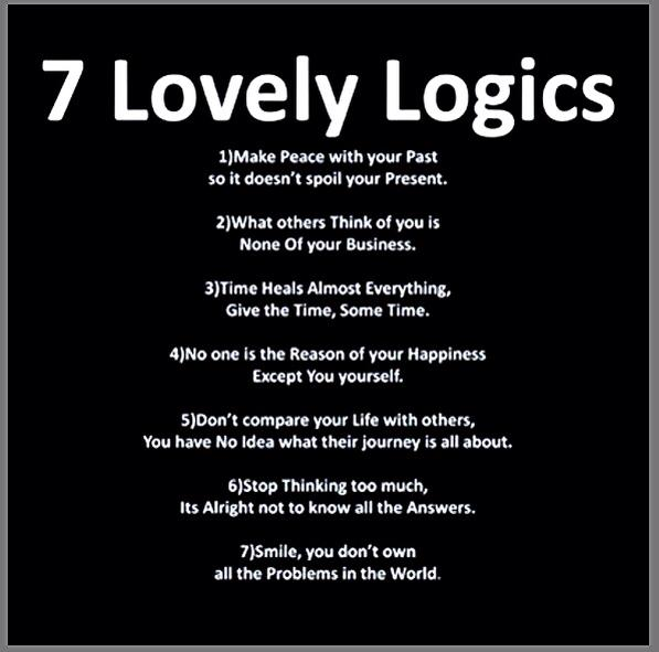 7 LOVELY LOGIC!!!!!